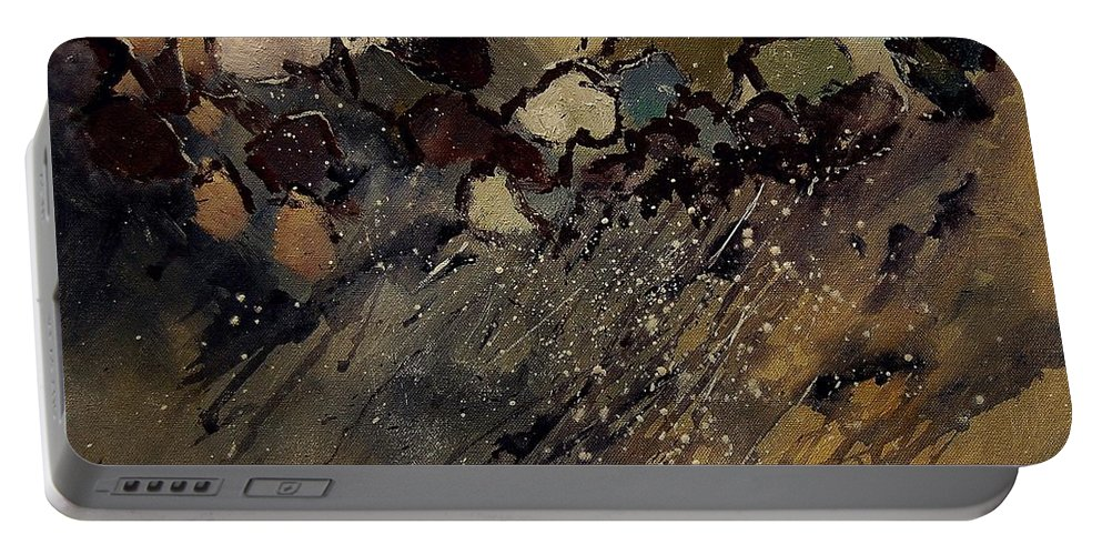 Abstract Portable Battery Charger featuring the painting Abstract 55901161 by Pol Ledent