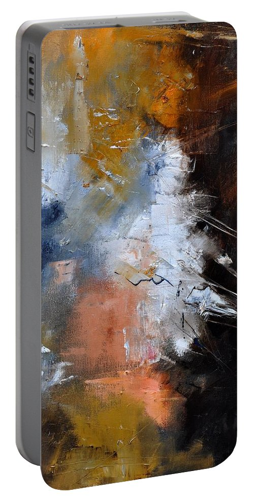 Abstract Portable Battery Charger featuring the painting Abstract 561140 by Pol Ledent