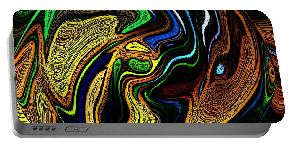 Abstract Portable Battery Charger featuring the digital art Abstract 6-10-09-a by David Lane