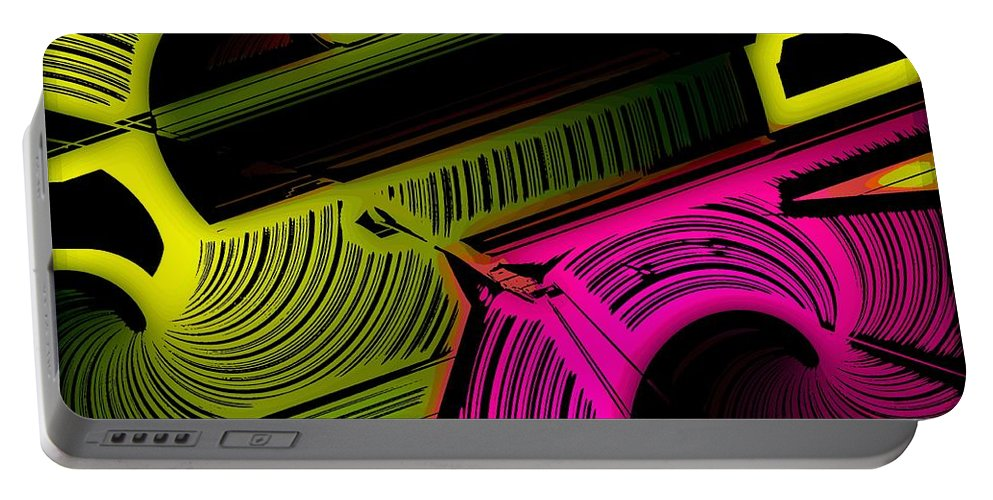 Abstract Portable Battery Charger featuring the digital art Abstract 6-21-09 by David Lane