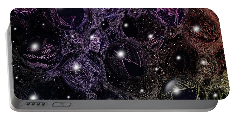 Digital Art Portable Battery Charger featuring the digital art Abstract 63016.11 by Belinda Cox