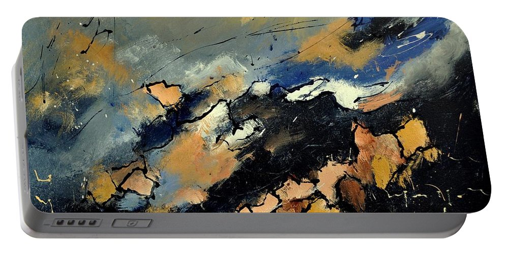 Abstract Portable Battery Charger featuring the painting Abstract 6601112 by Pol Ledent