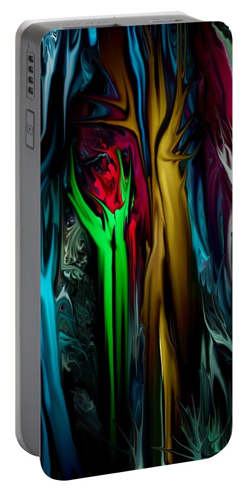 Abstract Portable Battery Charger featuring the digital art Abstract 7-09-09 by David Lane
