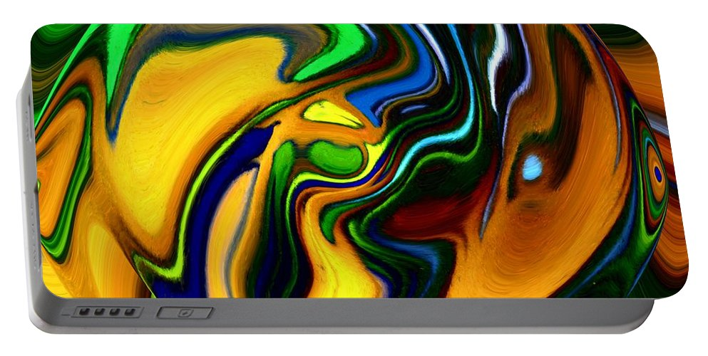 Abstract Portable Battery Charger featuring the digital art Abstract 7-10-09 by David Lane