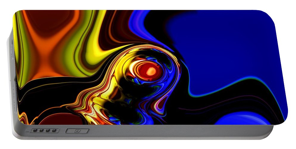 Abstract Portable Battery Charger featuring the digital art Abstract 7-26-09 by David Lane