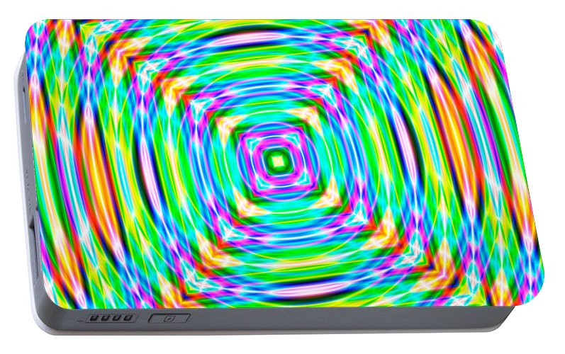 Abstract Portable Battery Charger featuring the digital art Abstract 709 by Rolf Bertram