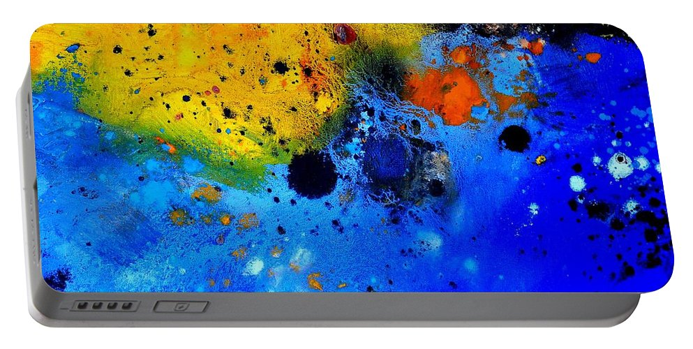 Abstract Portable Battery Charger featuring the painting Abstract 767b by Pol Ledent