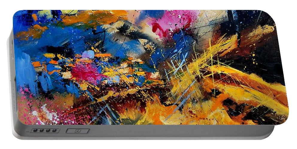 Abstract Portable Battery Charger featuring the painting Abstract 7808082 by Pol Ledent