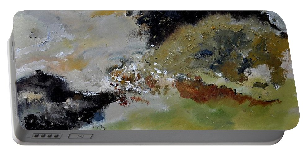 Abstract Portable Battery Charger featuring the painting Abstract 790180 by Pol Ledent
