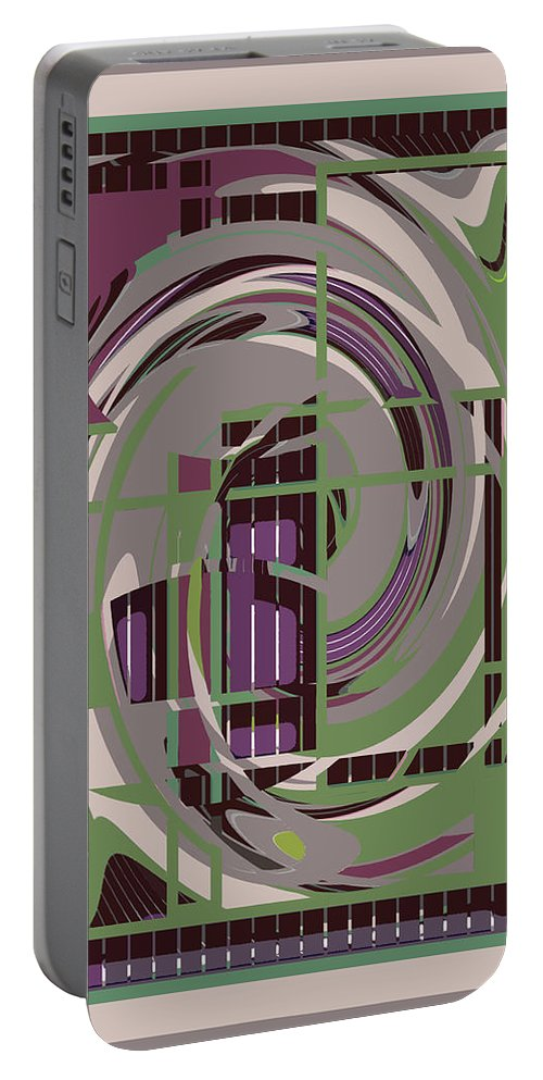 Purple Portable Battery Charger featuring the painting Abstract 8 by Robert Todd