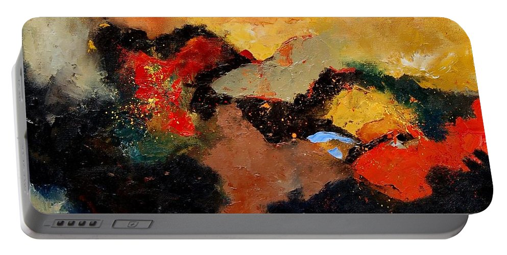 Abstract Portable Battery Charger featuring the painting Abstract 8080 by Pol Ledent