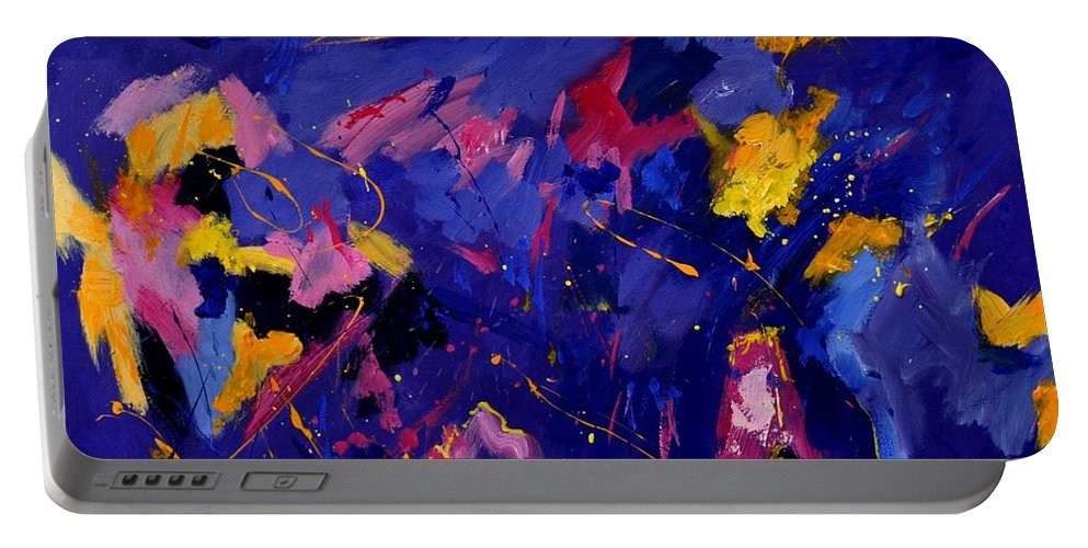 Abstract Portable Battery Charger featuring the painting Abstract 880160 by Pol Ledent