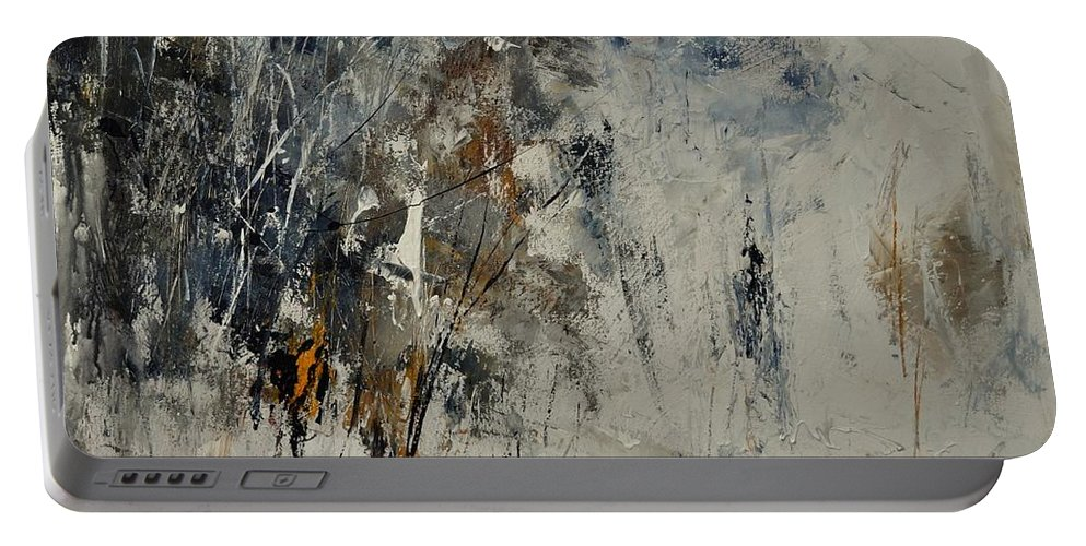 Abstract Portable Battery Charger featuring the painting Abstract 8821207 by Pol Ledent