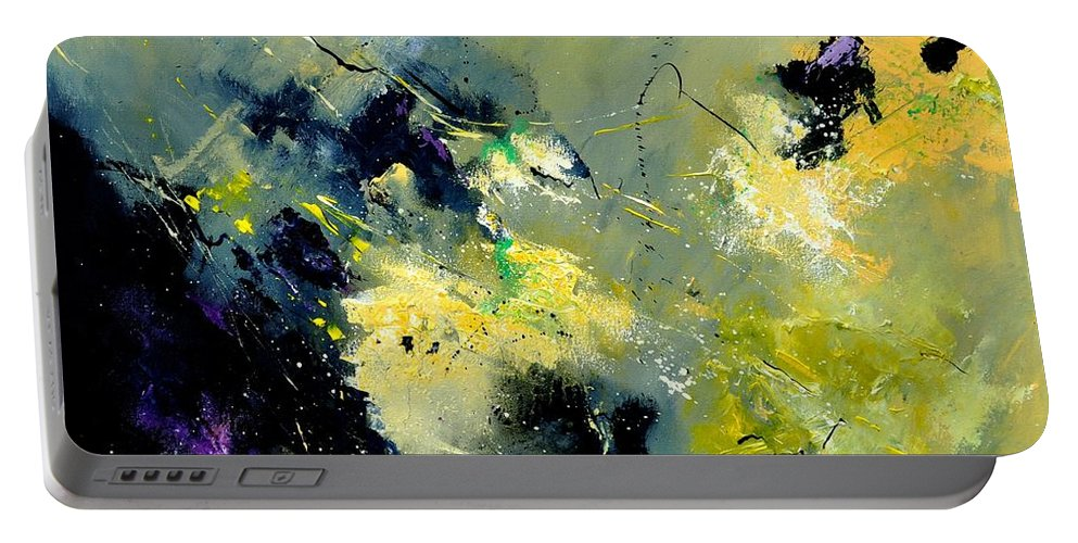 Abstract Portable Battery Charger featuring the painting Abstract 8821603 by Pol Ledent