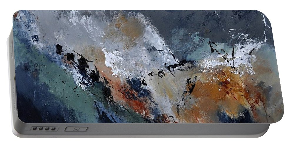 Abstract Portable Battery Charger featuring the painting Abstract 8821901 by Pol Ledent