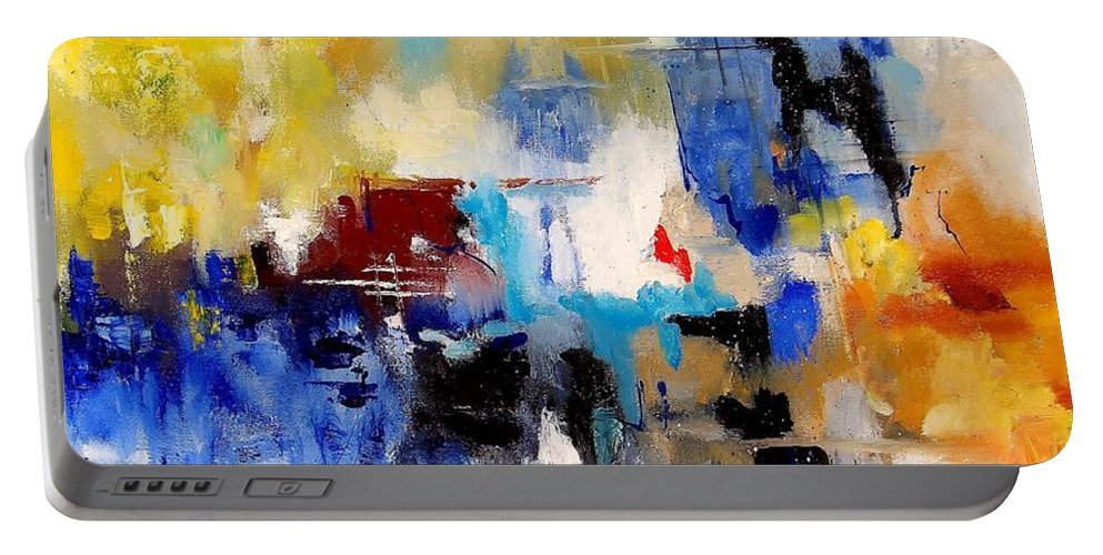 Abstract Portable Battery Charger featuring the painting Abstract 900003 by Pol Ledent