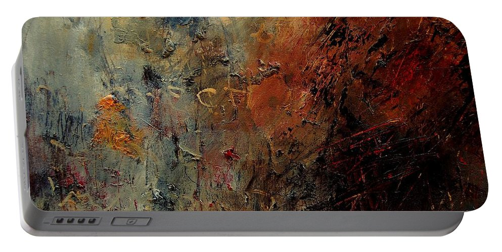 Abstract Portable Battery Charger featuring the painting Abstract 900192 by Pol Ledent