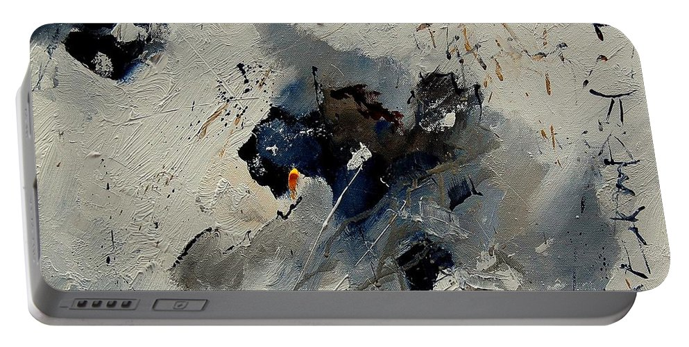 Abstract Portable Battery Charger featuring the painting Abstract 901141 by Pol Ledent