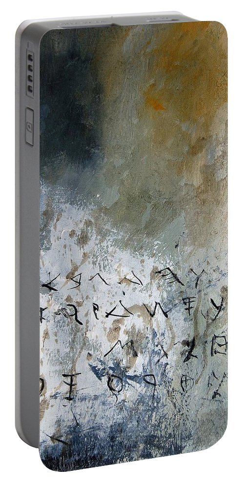 Abstract Portable Battery Charger featuring the painting Abstract 904023 by Pol Ledent
