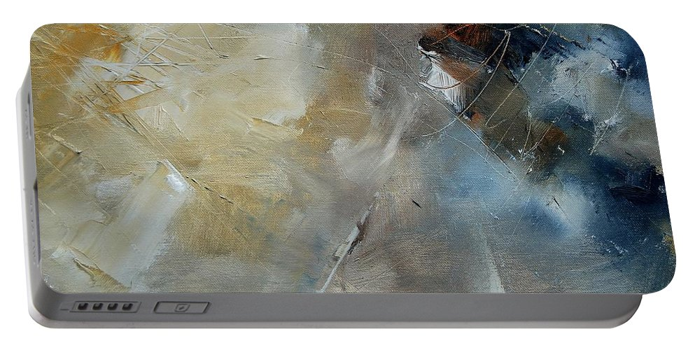 Abstract Portable Battery Charger featuring the painting Abstract 904060 by Pol Ledent