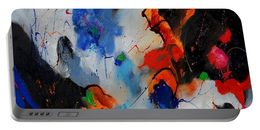 Abstract Portable Battery Charger featuring the painting Abstract 905060 by Pol Ledent