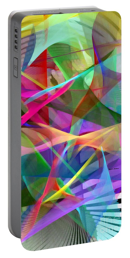 Rafael Salazar Portable Battery Charger featuring the digital art Abstract 9488 by Rafael Salazar