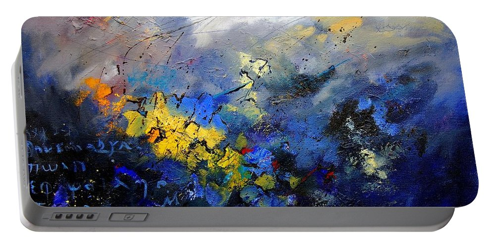 Abstract Portable Battery Charger featuring the painting Abstract 970208 by Pol Ledent