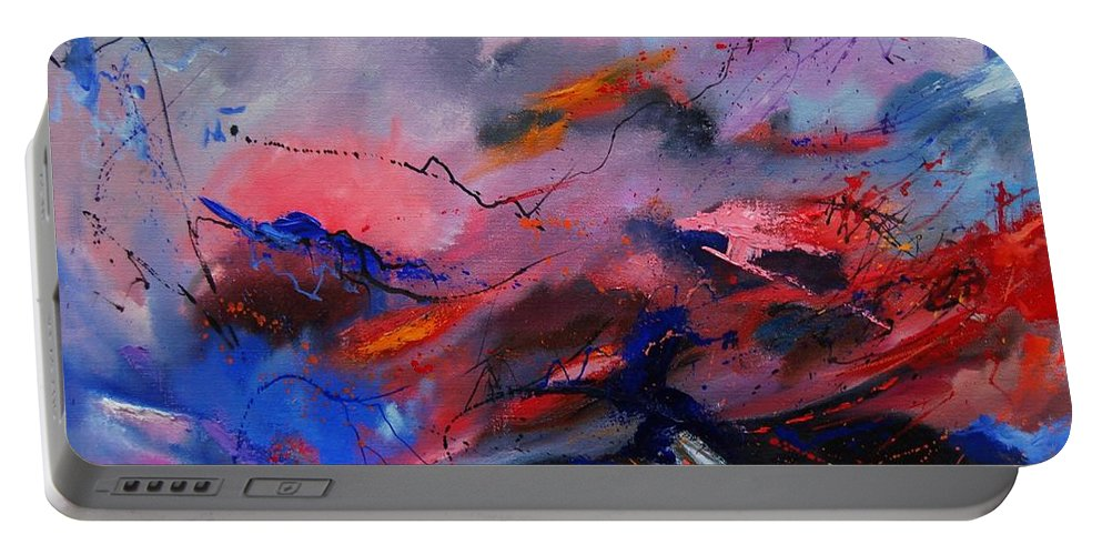 Abstract Portable Battery Charger featuring the painting Abstract 971260 by Pol Ledent