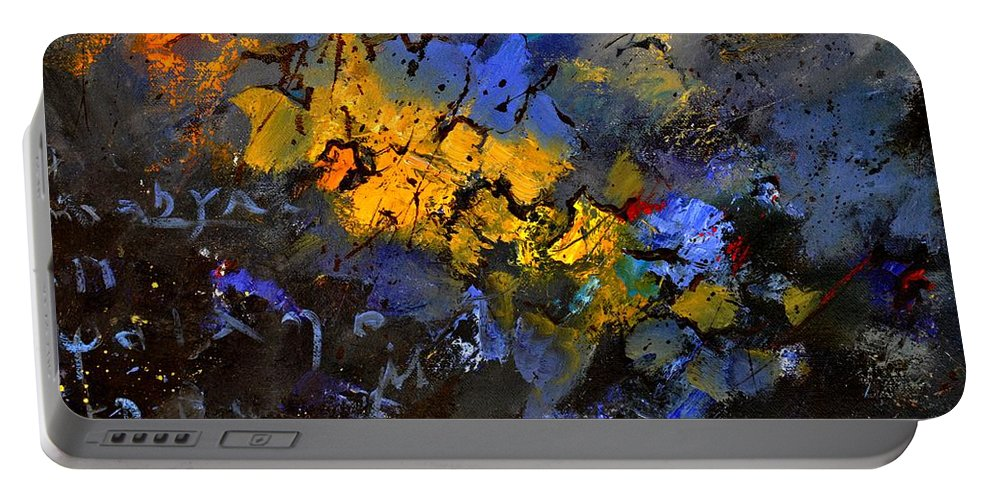Abstract Portable Battery Charger featuring the painting Abstract 972 by Pol Ledent