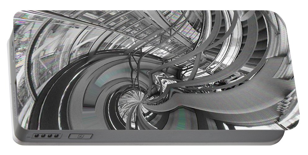 Abstract Portable Battery Charger featuring the digital art Abstract Architecture by Marco De Mooy