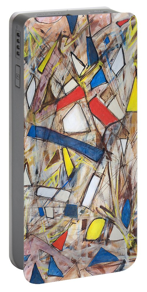 Abstract Art Portable Battery Charger featuring the painting Abstract Art Seven by Lynne Taetzsch
