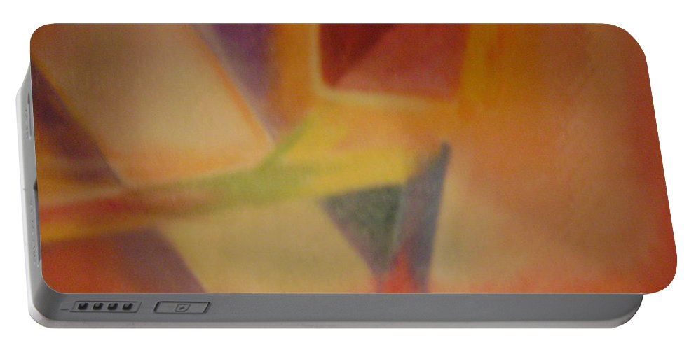 Abstract Art Portable Battery Charger featuring the pastel Abstract Art by Sylvester Wofford