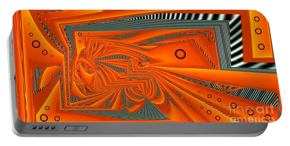 Abstract Portable Battery Charger featuring the digital art Abstract Boxed by Ron Bissett