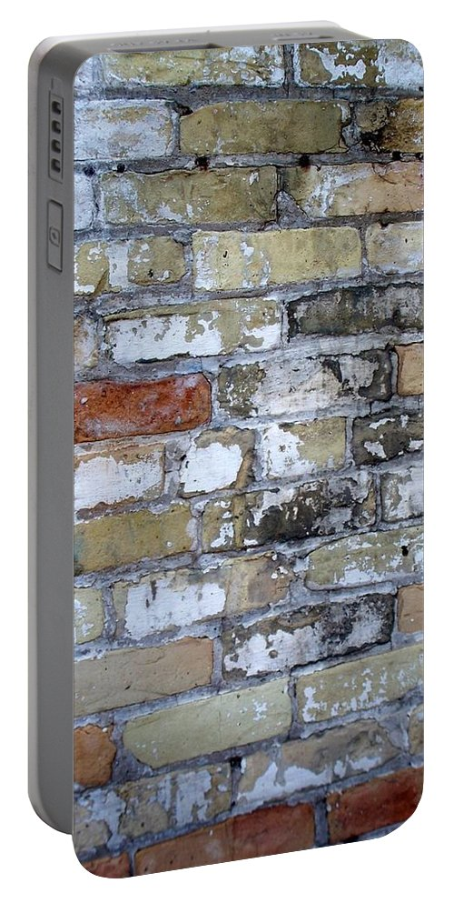 Industrial Portable Battery Charger featuring the photograph Abstract Brick 10 by Anita Burgermeister