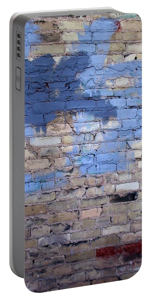 Industrial Portable Battery Charger featuring the photograph Abstract Brick 3 by Anita Burgermeister