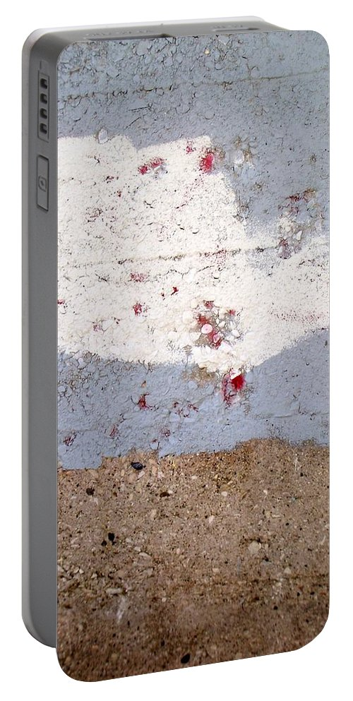 Industrial. Urban Portable Battery Charger featuring the photograph Abstract Concrete 13 by Anita Burgermeister