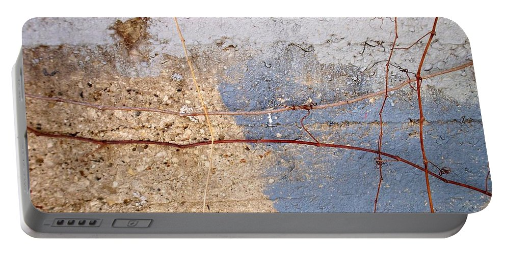 Industrial. Urban Portable Battery Charger featuring the photograph Abstract Concrete 15 by Anita Burgermeister