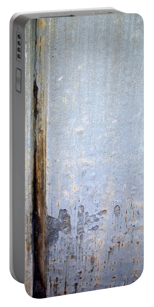 Industrial. Urban Portable Battery Charger featuring the photograph Abstract Concrete 19 by Anita Burgermeister