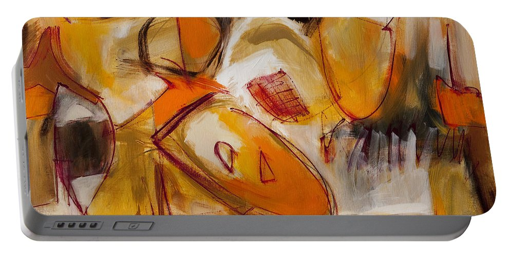 Abstract Painting Portable Battery Charger featuring the painting Abstract Expressionism Three by Lynne Taetzsch