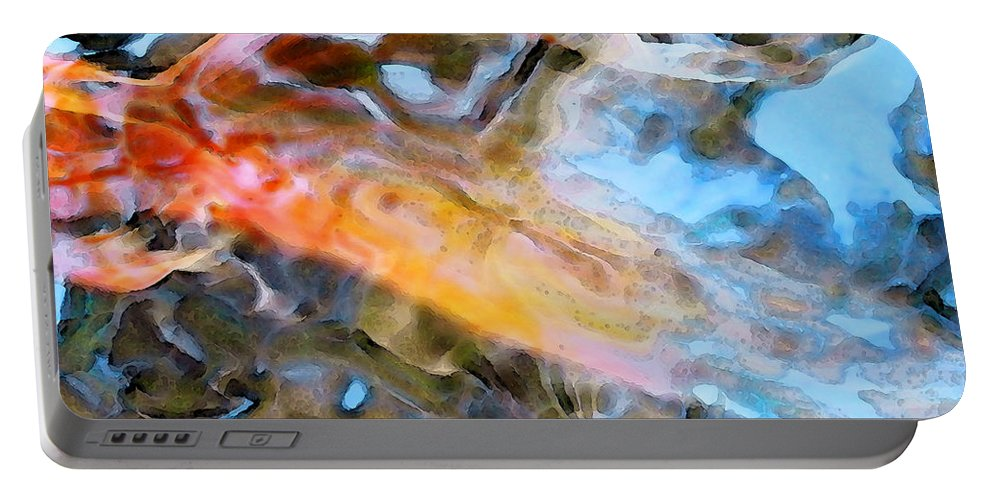Animal Portable Battery Charger featuring the painting Abstract Fish Art - Fairy Tail by Sharon Cummings