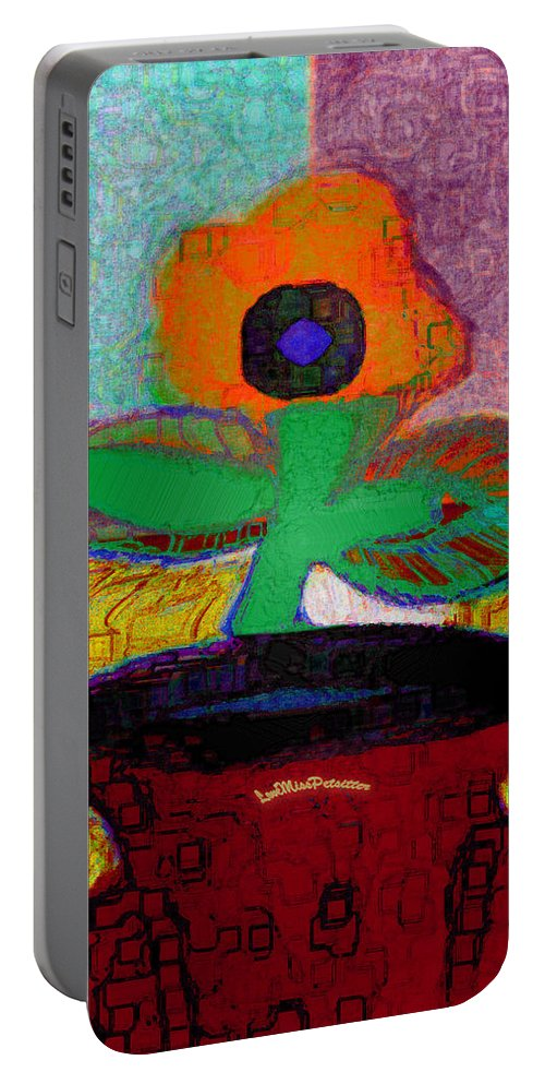 Posters Portable Battery Charger featuring the digital art Abstract Floral Art 116 by Miss Pet Sitter