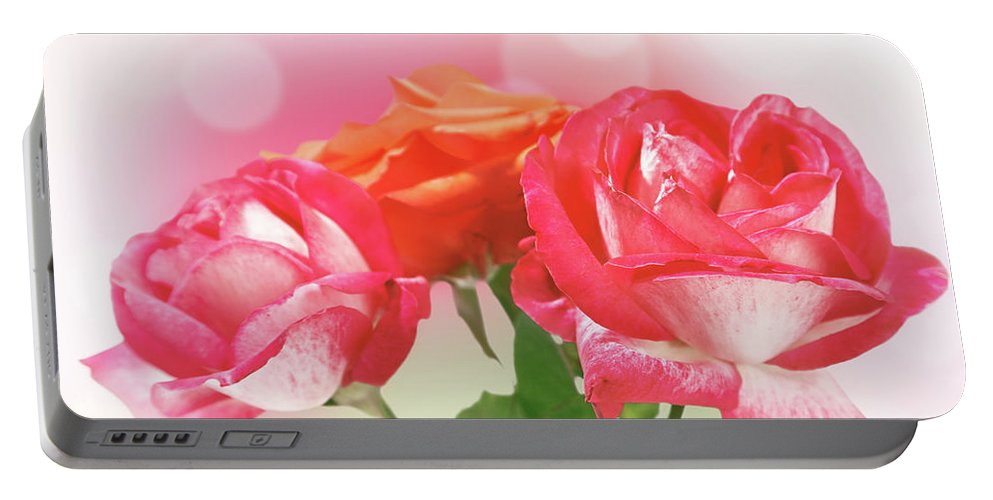 Blossom Portable Battery Charger featuring the photograph Abstract Flowers Spring Background by IPolyPhoto Art