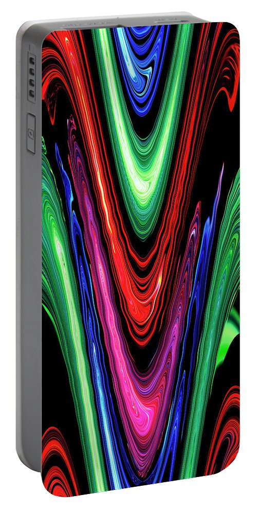 Abstract Portable Battery Charger featuring the digital art Abstract II by DigiArt Diaries by Vicky B Fuller
