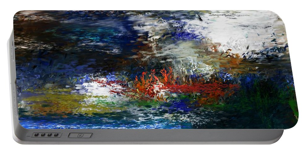 Abstract Portable Battery Charger featuring the digital art Abstract Impression 5-9-09 by David Lane