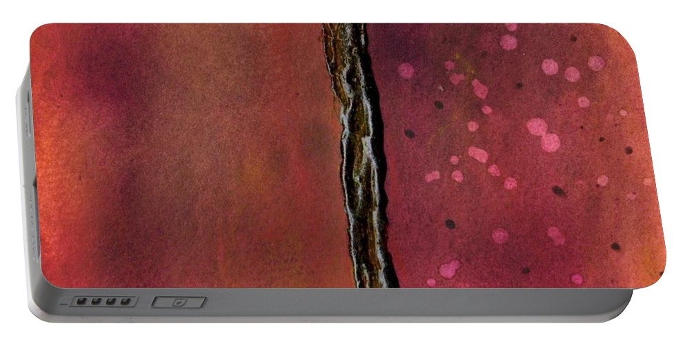 Abstract Art Portable Battery Charger featuring the painting Abstract In Rose And Copper by Desiree Paquette