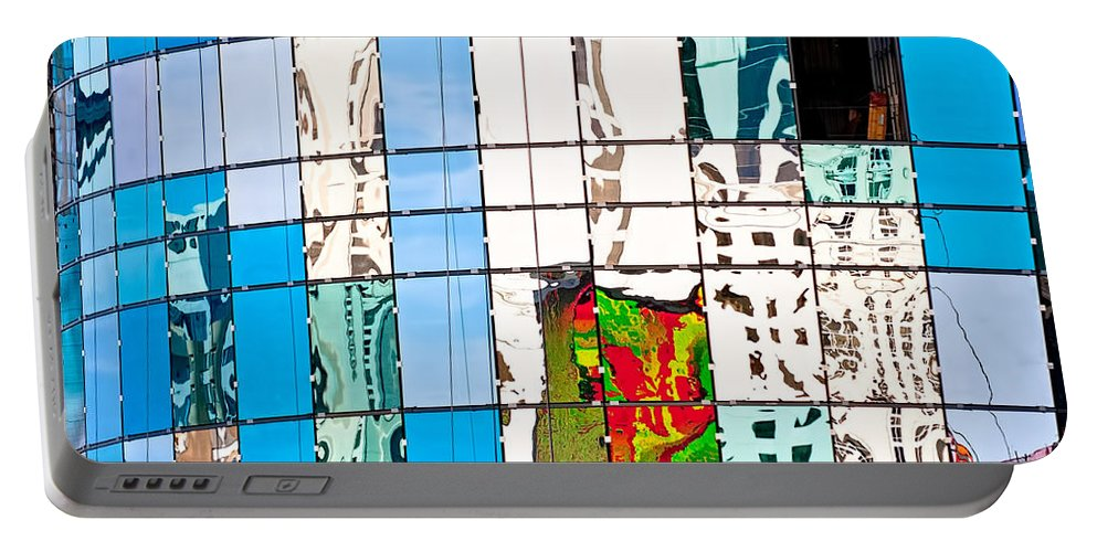 Building Portable Battery Charger featuring the photograph Abstract In The Windows by Christopher Holmes