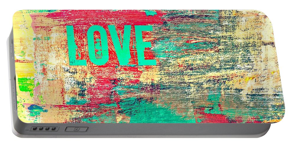 Brandi Fitzgerald Portable Battery Charger featuring the digital art Abstract Love V2 by Brandi Fitzgerald