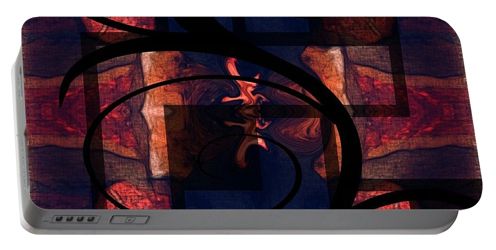 Abstract Portable Battery Charger featuring the digital art Abstract Me by Melisha Robinson