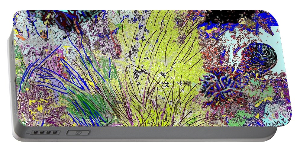 Abstract Portable Battery Charger featuring the photograph Abstract Musings by Ian MacDonald