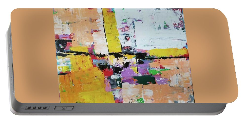 Portable Battery Charger featuring the mixed media Abstract Painting by Pavani Arigila